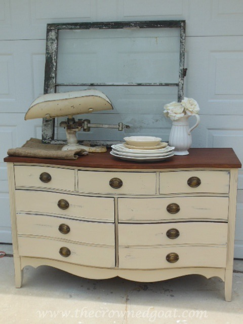 062514-10 Miss Mustard Seed Milk Paint Dresser Makeover Painted Furniture