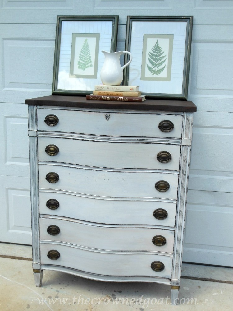 082714-8 Miss Mustard Seed Milk Paint Dresser Makeover Painted Furniture