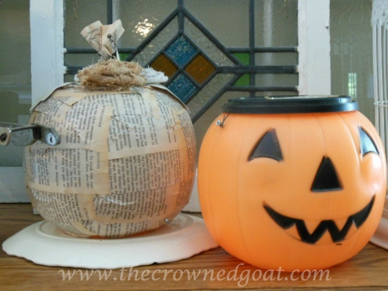 100614-9 Fall Crafternoon Idea: Upcycled Pumpkin Pails Crafts Fall Holidays