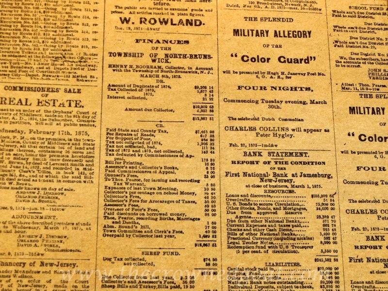 102014-5Vintage Newspaper Inspired Drawer Liners