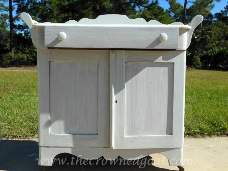 102714-2 Washstand Makeover with DIY Chalk Inspired Paint Recipe Painted Furniture