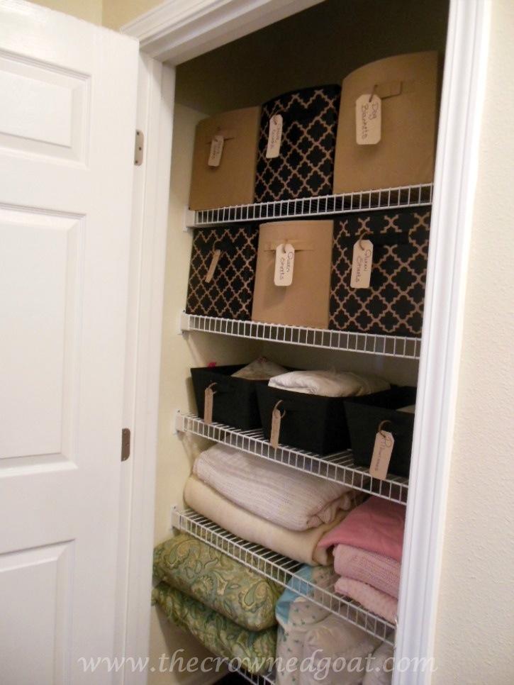 Budget Friendly Linen Closet Organization - 102214-5