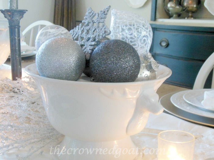 120514-5 Holiday Blog Series: Winter Wonderland Tablescape Christmas Decorating Holidays