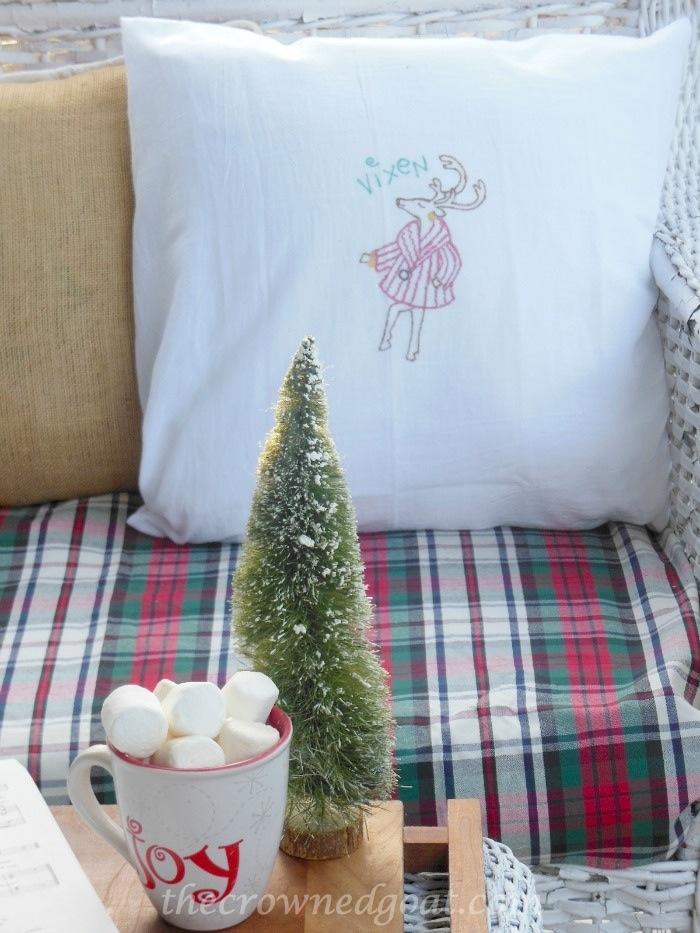 121514-7-Vixen-Christmas-Pillow 2014 Christmas Porch Decorating Holidays