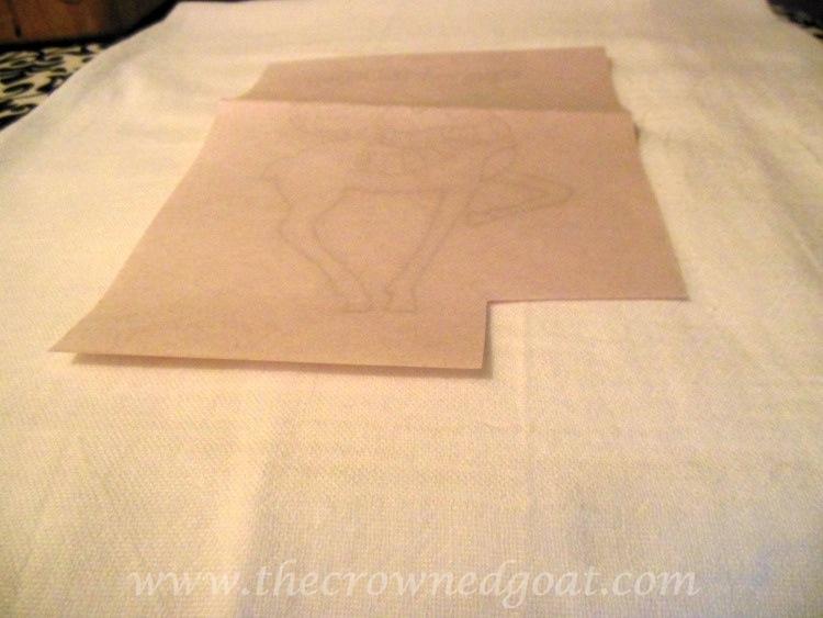 121714-3 Reindeer Flour Sack Towels Crafts Holidays