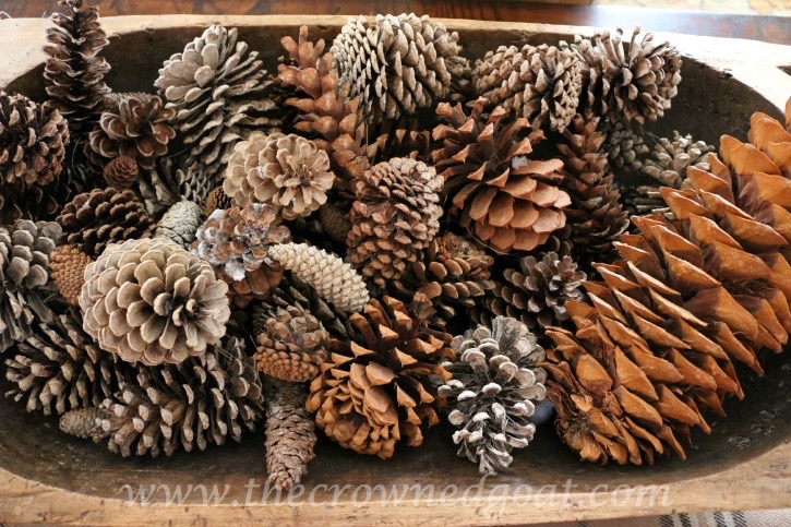 011315-8-Pinecones-in-dough-bowl How to Transition Christmas Décor into Winter Décor Decorating