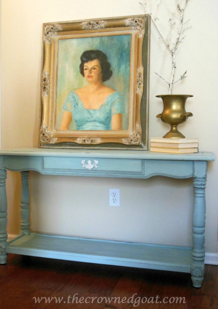 011515-7-Annie-Sloan-Chalk-Paint-Duck-Egg ASCP Console Table in Duck Egg Painted Furniture