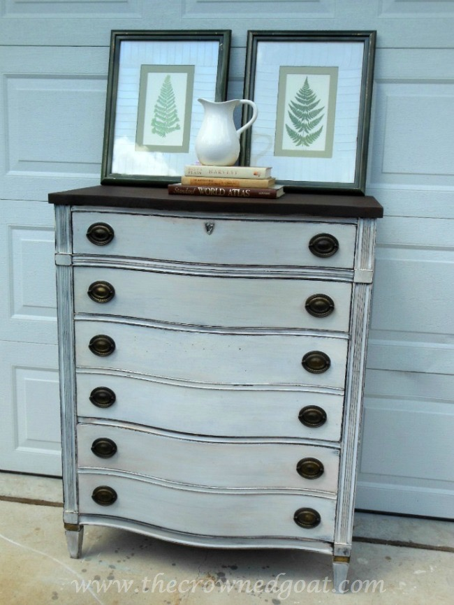 082714-8-Miss-Mustard-Seed-Milk-Paint-in-Ironstone ASCP Country Grey Dresser Makeover Painted Furniture