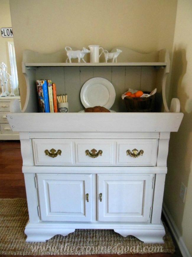 022415-11 Dry Sink Painted in Lambs Wool Painted Furniture