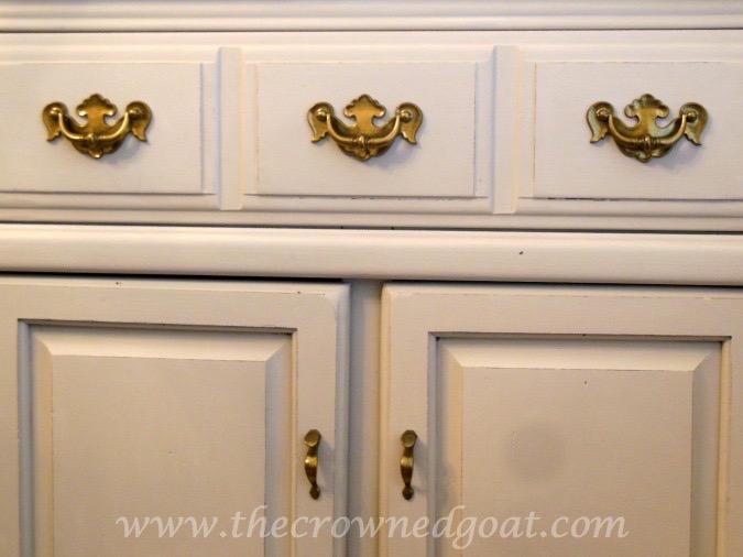 022415-5 Dry Sink Painted in Lambs Wool Painted Furniture
