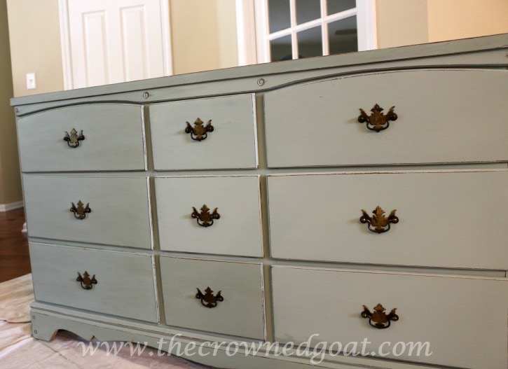 031815-4 Sea Glass Inspired Dresser Makeover Painted Furniture