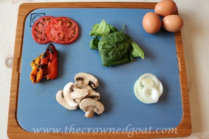 032015-1 Easy to Make Veggie & Herb Omelet Baking