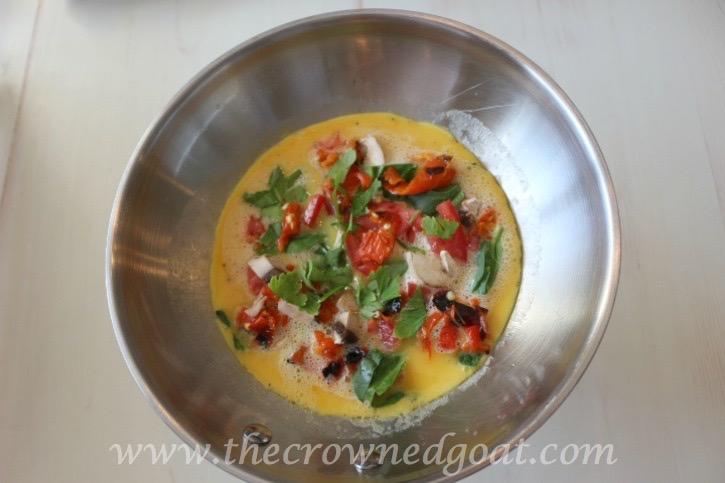 032015-3 Easy to Make Veggie & Herb Omelet Baking