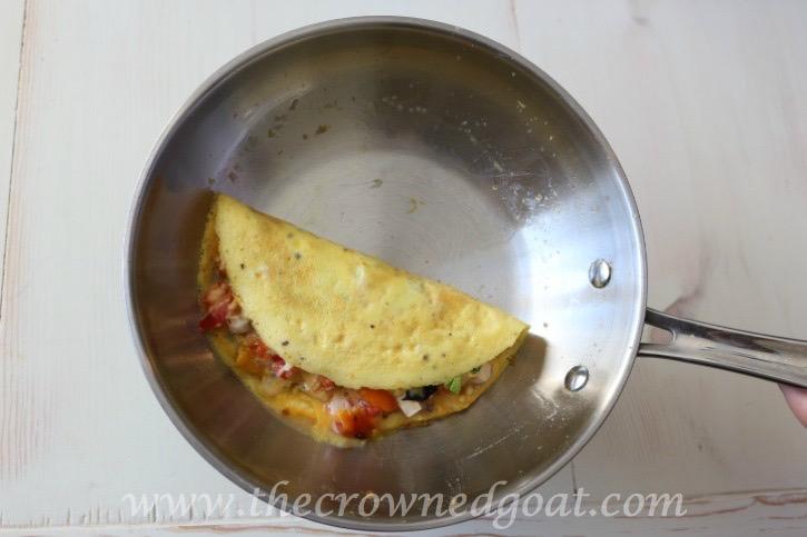 032015-4 Easy to Make Veggie & Herb Omelet Baking