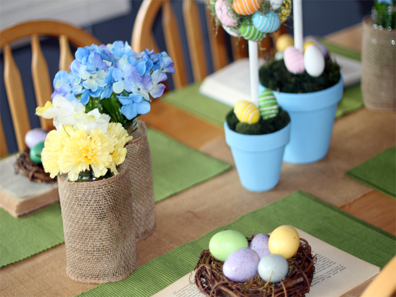Ideas-for-an-Inexpensive-Easter-Tablescape-3 Something to Talk About Link Party #10 LinkParty