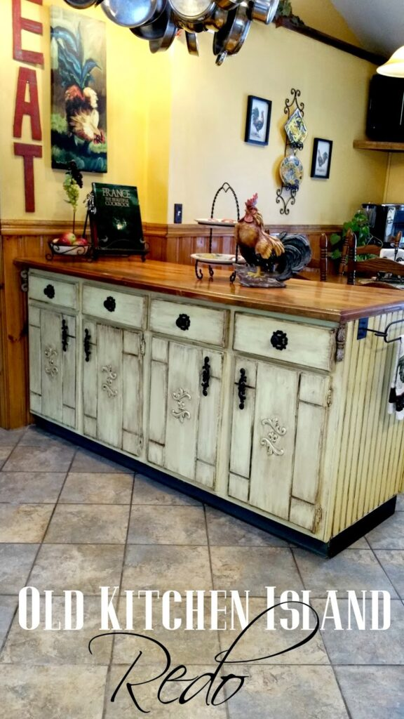 Redo it yourself inspiration - Old Kitchen Island Redo