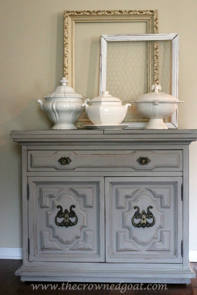 040715-11 - Annie Sloan Chalk Painted Dresser in French Linen - The Crowned Goat