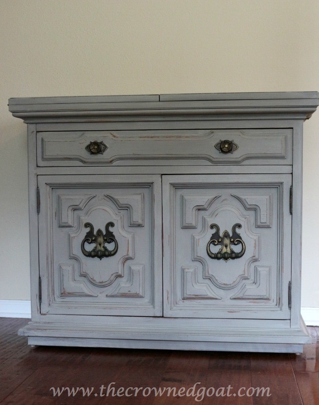 040715-9 Painted Buffet in Annie Sloan Chalk Paint French Linen Painted Furniture