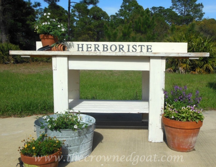 041015-16 Herboriste Potting Station Painted Furniture