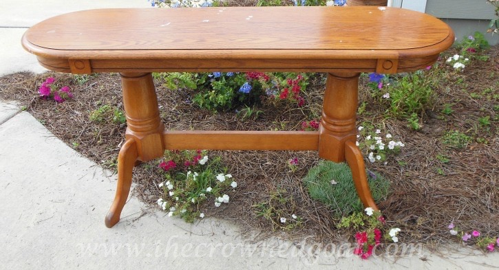 041515-1 Valspar Painted Table Transformation Painted Furniture