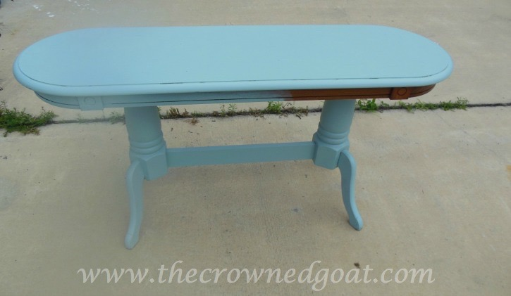 041515-3 Valspar Painted Table Transformation Painted Furniture