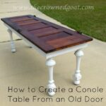 041615-9-How-to-Create-a-Console-Table-From-an-Old-Door-150x150 Painted Furniture