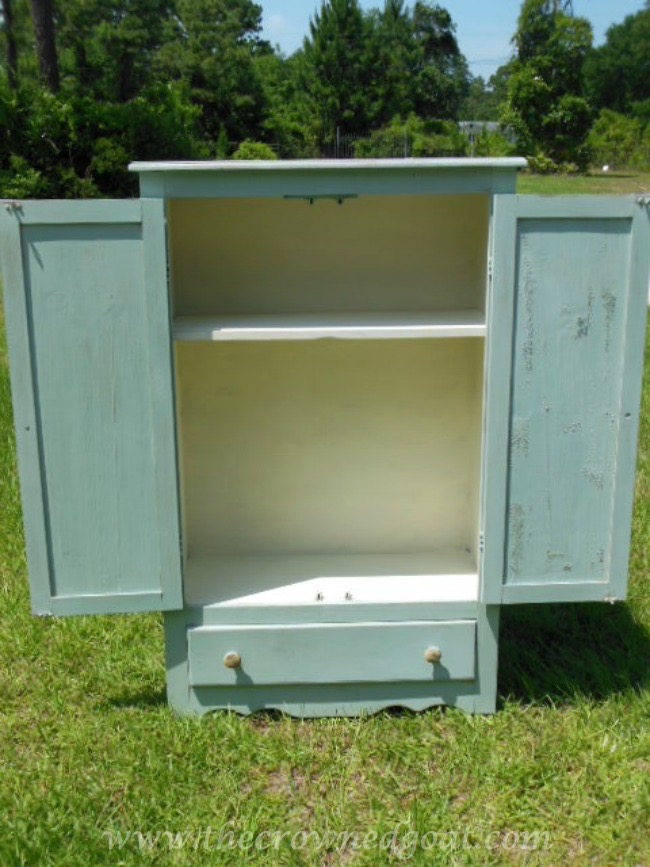 052115-5 Annie Sloan Chalk Duck Egg Painted Cabinet Painted Furniture