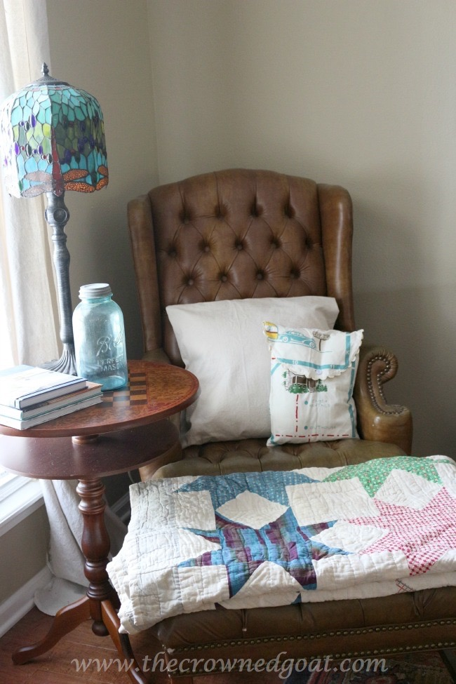 052615-6 Cabin Inspired Summer Mantel Decorating