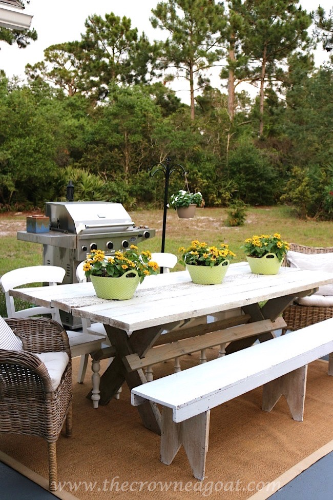 Farmhouse Style Table - The Crowned Goat - 050815-3
