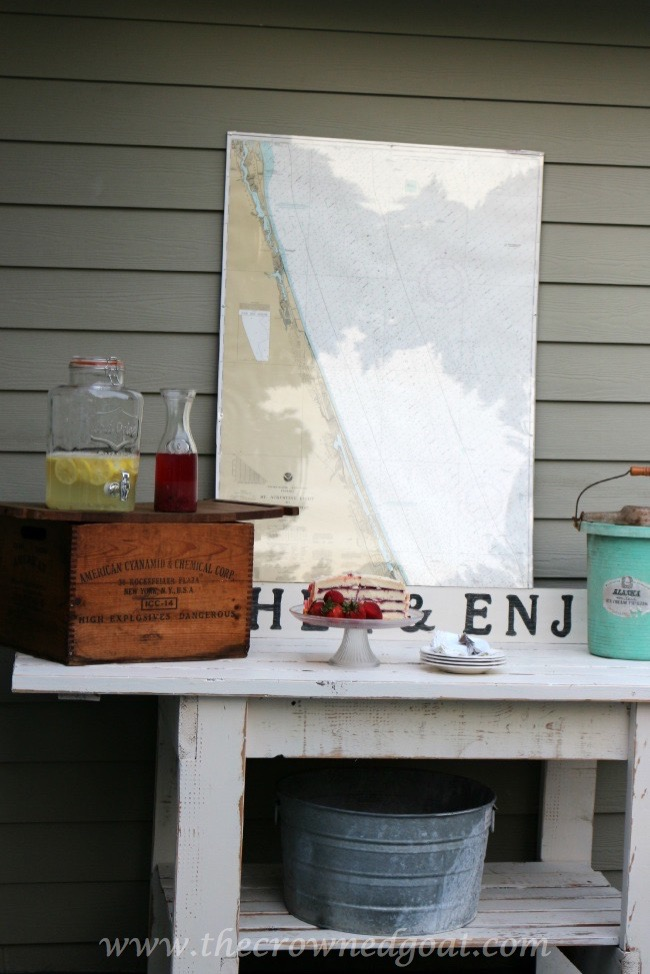 Gather and Enjoy - Backyard Serving Station - The Crowned Goat