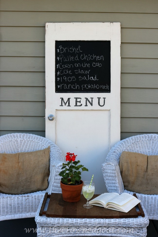 How to Turn an Old Door Into a Menu Board - The Crowned Goat 050815-4