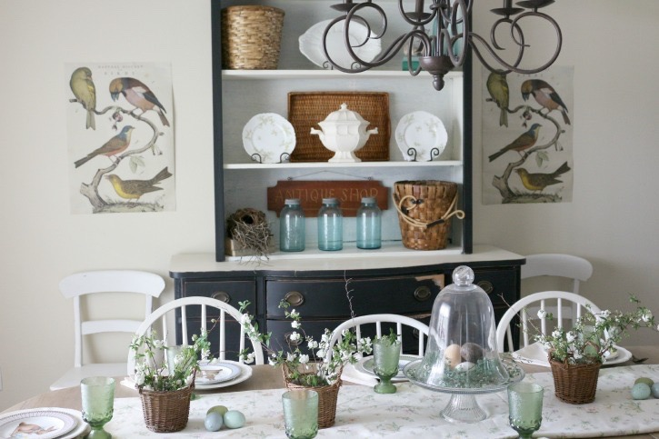 Spring-Inspired-Dining-Room-The-Crowned-Goat-032515-19 Summer Inspired Dining Room Decorating