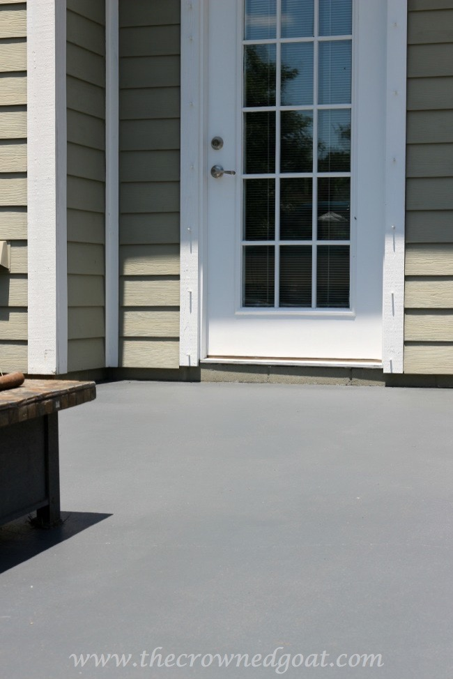 Tips for Staining a Textured Concrete Patio – Valspar's Ember – The Crowned Goat - 050515-15