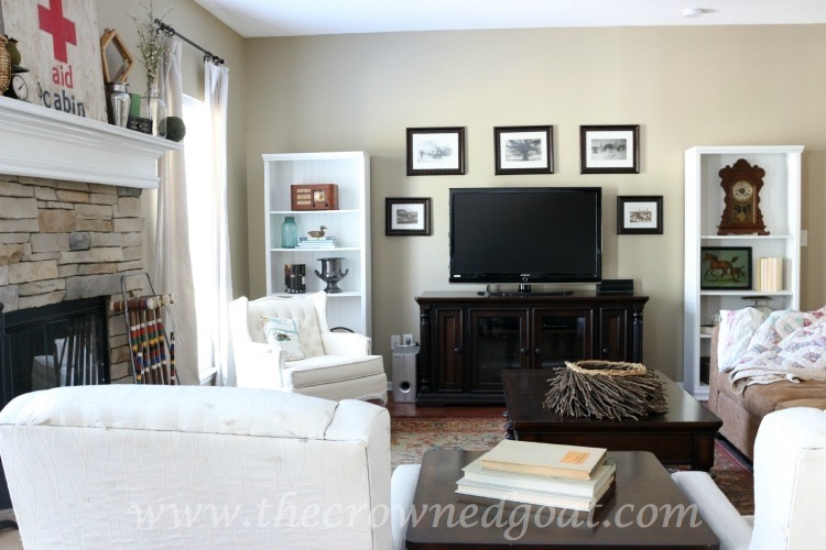 Easy Living Room Updates - The Crowned Goat -061715-2