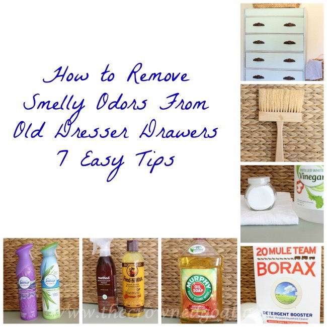 How-to-Remove-Smelly-Odors-From-Old-Dreser-Drawers-The-Crowned-Goat How to Remove Smelly Odors From Old Dresser Drawers  DIY Painted Furniture