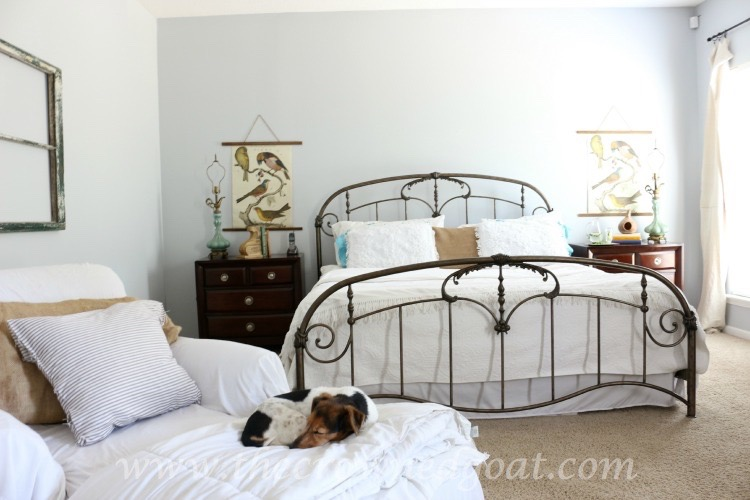 Using-Thrifted-Finds-for-Bedroom-Makeover-The-Crowned-Goat-061915-12 Bedroom Makeover Decorating