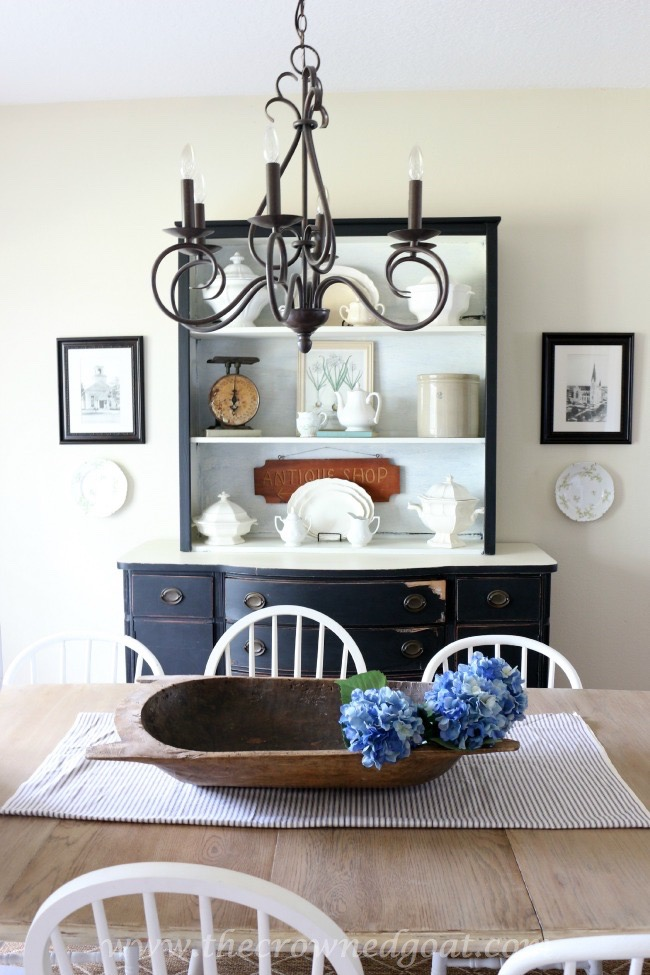 Using Vintage Finds to Style a China Hutch - The Crowned Goat - 062315-8 - Copy