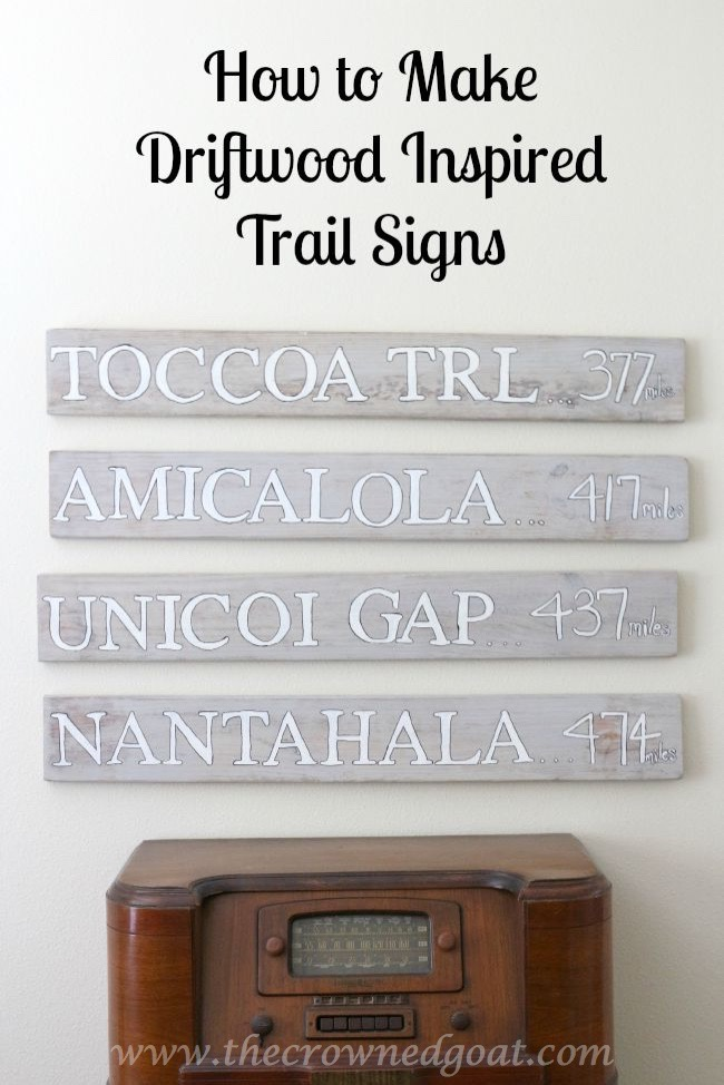 072915-13-How-to-Make-a-Driftwood-Inspired-Trail-Sign-The-Crowned-Goat-Pinnable Driftwood Inspired Trail Signs DIY Painted Furniture