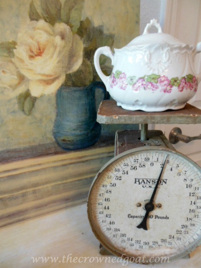 Incorporating a Vintage Scale with Bedroom Accessories - The Crowned Goat - 071515-7