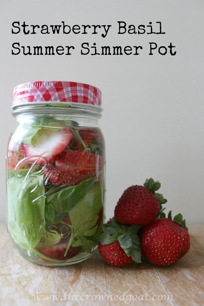 Strawberry-Basil-Summer-Simmer-Pot-The-Crowned-Goat-072415-7 Strawberry Basil Simmer Pot Baking DIY