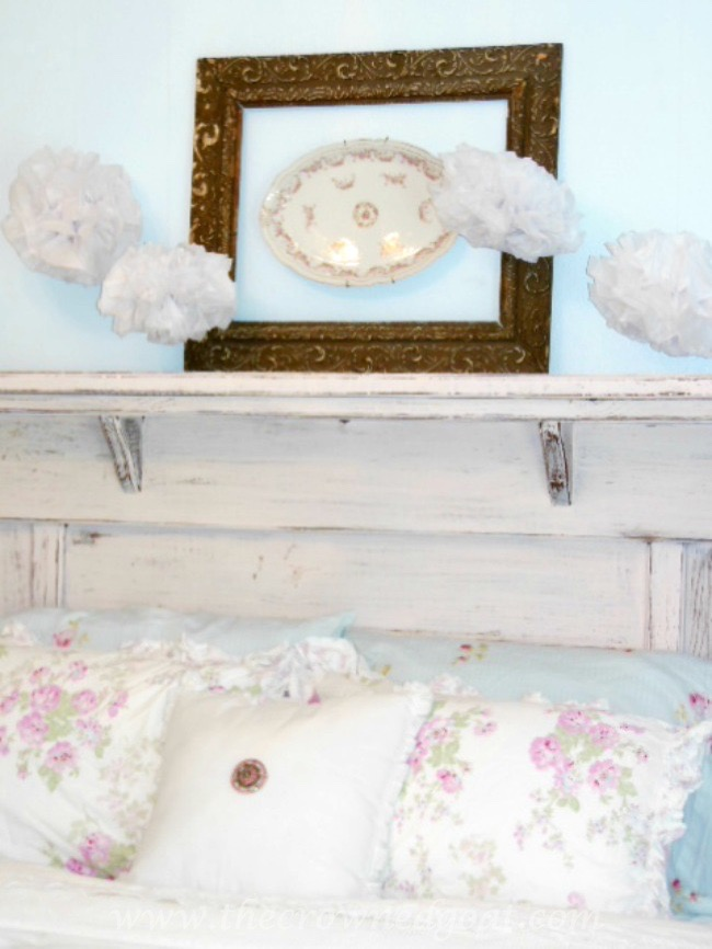 Using an Old Mantel as a Headboard - The Crowned Goat - 071515-2