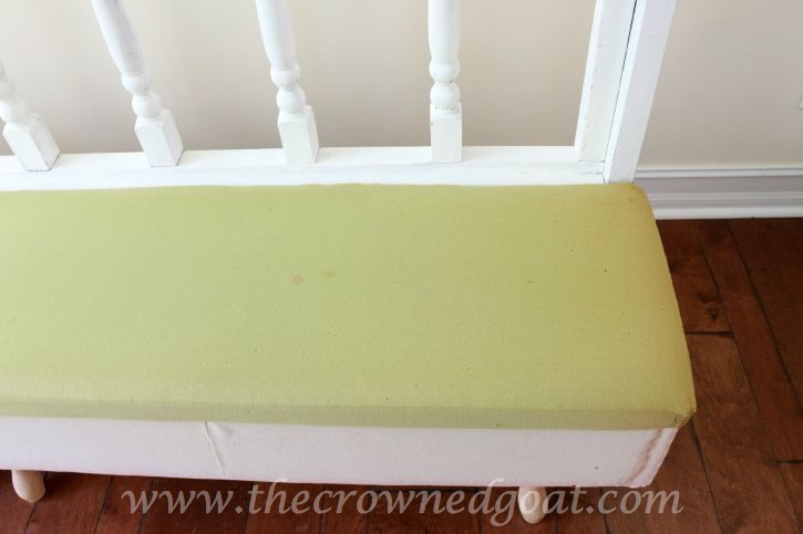 082615-10 Americana DECOR Chalky Finish Painted Bench in Everlasting DIY Painted Furniture