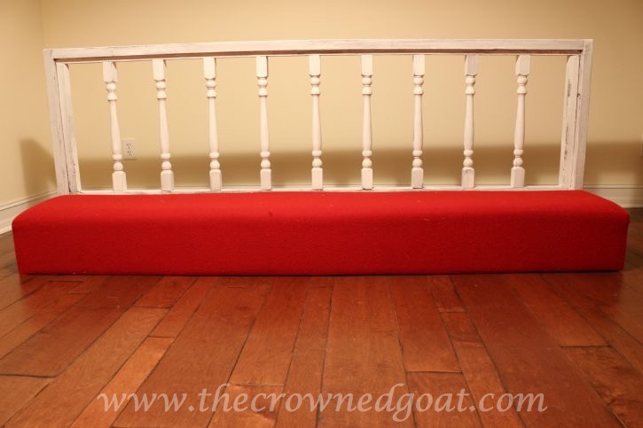 082615-5 Americana DECOR Chalky Finish Painted Bench in Everlasting DIY Painted Furniture