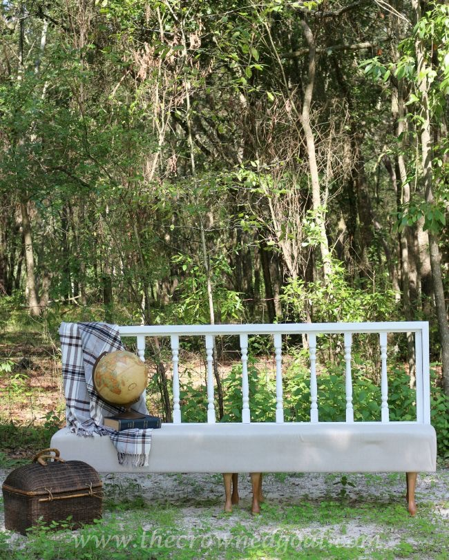Americana-Decor-Chalky-Finish-Paint-in-Everlasting-082615-15 Americana DECOR Chalky Finish Painted Bench in Everlasting DIY Painted Furniture