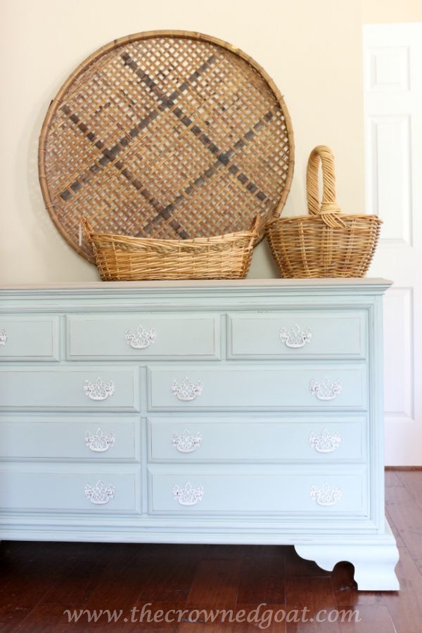 Duck Egg and Driftwood Inspired Dresser - The Crowned Goat - 081315-17