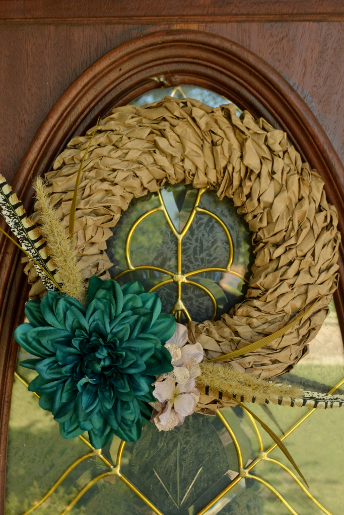 Paper-Bag-Wreath Something to Talk About Link Party 31 LinkParty