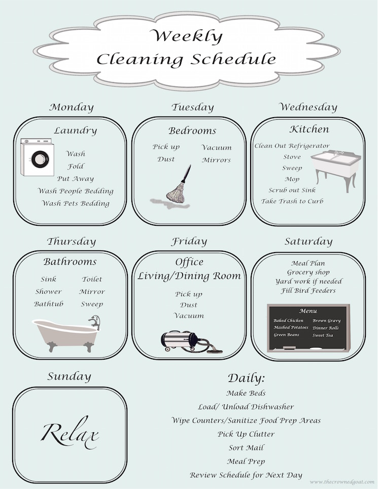 cleaning-post-img Modern Day Cleaning Schedule Made Easy Organization