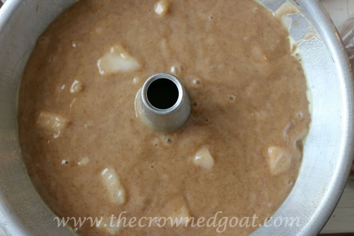 090415-8 Pear Streusel Coffee Cake Baking