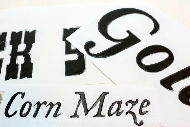 091015-4 Creating a Vintage Inspired Apple Picking Sign Crafts DIY