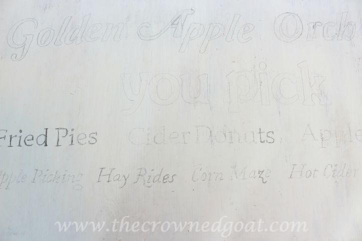 091015-8 Creating a Vintage Inspired Apple Picking Sign Crafts DIY